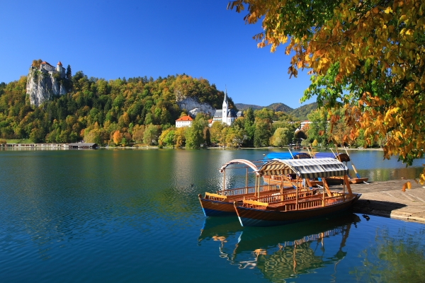 Beautiful lake Bled with a castle