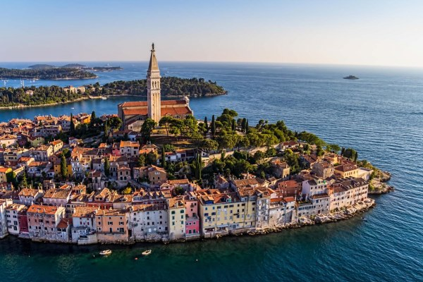 View on the old town of Rovinj, Croatia