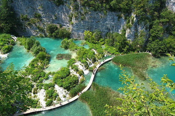 Plitvice Lakes from the air