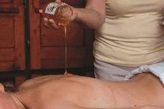 Honey massage in Slovenian bee house